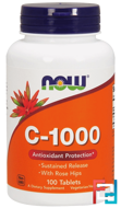 C-1000, Now Foods, 100 Tablets