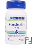 Forskolin, Life Extension, 10 mg, 10%, 60 Veggie Caps