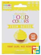 Decorative, Food Colors From Nature, Yellow, ColorKitchen, 1 Color Packet, 0.088 oz (2.5 g)