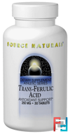 Trans-Ferulic Acid, 250 mg, Source Naturals, 30 Tablets