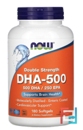 DHA-500/EPA-250, Double Strength, Now Foods, 180 Softgels