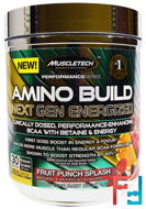 Amino Build Next Gen BCAA Formula With Betaine Energized, Muscletech, 9.86 oz, 280 g