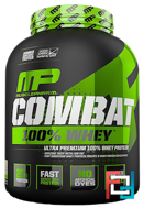 100% Combat Whey Protein, Strawberry, MusclePharm, 80 oz (2269 g)