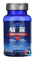 Alaska Wild Fish Oil, 21st Century, 90 Enteric Coated Softgels