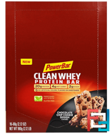 Clean Whey Protein Bar, Chocolate Chip Cookie Dough, PowerBar, 16 Bars, 2.12 oz (60 g) Each