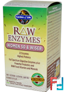 Garden of Life, RAW Enzymes, Women 50 & Wiser, 90 Veggie Caps