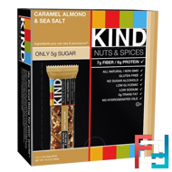 Nuts & Spices, Caramel Almond & Sea Salt, KIND Bars, 12 Bars, 1.4 oz (40 g) Each