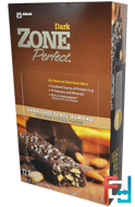 Dark, All-Natural Nutrition Bars, Dark Chocolate Almond, ZonePerfect, 12 Bars, 1.58 oz (45 g) Each
