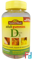 Adult Gummies, Vitamin D3, Nature Made, 90 Gummies