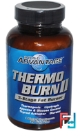 Thermo Burn II, 5-Stage Fat Burner, Pure Advantage, 90 Capsules
