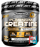 Platinum 100% Creatine, Essential Series, Muscletech, Unflavored, 14.11 oz, 400 g