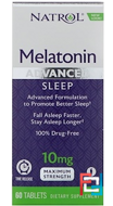 Melatonin, Advanced Sleep, Time Release, Natrol, 10 mg, 60 Tablets