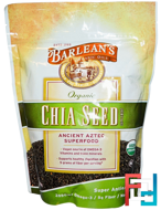 Organic, Chia Seed Supplement, Barlean's, 12 oz, 340 g