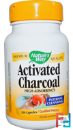 Activated Charcoal, Nature's Way, 100 Capsules
