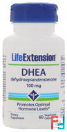 DHEA, 100 mg, Life Extension, 60 Veggie Caps