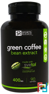 Green Coffee Bean Extract, Sports Research, 400 mg, 90 Softgels