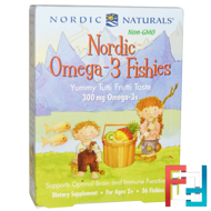 Nordic Omega-3 Fishies, Yummy Tutti Frutti Taste, 300 mg, Nordic Naturals, 36 Fishies