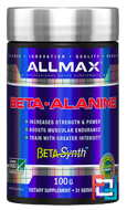 100% Pure Beta-Alanine Maximum Strength + Absorption, ALLMAX Nutrition, 3200 mg, 3.5 oz, 100 g