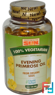 Evening Primrose Oil, 100% Vegetarian, Health From The Sun, 90 Veggie Softgels