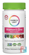 Women's One, Food-Based Multivitamin, Rainbow Light, Just Once, 90 Tablets