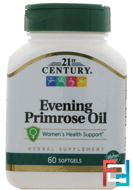 21st Century, Evening Primrose Oil, Standardized, 60 Softgels