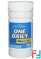 One Daily, Men's 50+, Multivitamin Multimineral, 21st Century, 100 Tablets