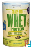 Grass-Fed Whey Protein, Chocolate Flavor, ReserveAge Nutrition, 25.4 oz (720 g)