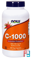 C-1000, With 100 mg of Bioflavonoids, Now Foods, 250 Veg Capsules