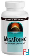 MegaFolinic, 800 mcg, Source Naturals, 120 Tablets