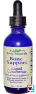 Ionic Minerals, Bone Support, Liquid Concentrate, Eidon Mineral Supplements, 2 oz, 60 ml