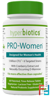 PRO-Women, 5 Billion CFU, Hyperbiotics, 60 Time-Release Tablets
