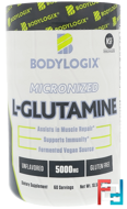 Micronized L-Glutamine, Unflavored, Bodylogix, 5000 mg, 10.58 oz, 300 g