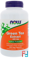 Green Tea Extract, Now Foods, 400 mg, 250 Veg Capsules