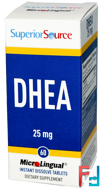 DHEA, 25 mg, Superior Source, 60 MicroLingual Instant Dissolve Tablets