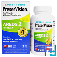 PreserVision, AREDS 2 Formula, Bausch & Lomb, 60 Soft Gels