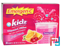 Kidz, Fruit Punch, 30 Packets, Emergen-C, 9.7 oz, 276 g