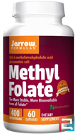 Methyl Folate, Jarrow Formulas, 400 mcg, 60 Capsules