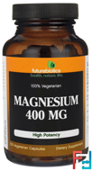 Magnesium, 400 mg , FutureBiotics, 100 Veggie Caps
