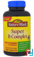 Super-B Complex, Nature Made, 360 Tablets