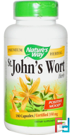 St. John's Wort Herb, 350 mg, Nature's Way, 180 Capsules