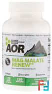 Classic Series, Mag Malate Renew, Advanced Orthomolecular Research AOR, 120 Veggie Caps
