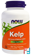 Kelp, Green Superfood, Now Foods, 250 Veggie Caps