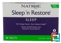 Sleep 'n Restore, Natrol, 20 Tablets