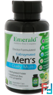 Men's Multi Vit-A-Min, 1-Daily, Emerald Laboratories, 30 Veggie Caps