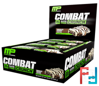 Combat Crunch, Chocolate Coconut, MusclePharm, 12 Bars, (63 g) Each