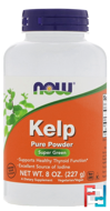 Kelp, Powder, Now Foods, 227 g