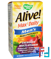 Alive!, Max3 Daily, Men's Max Potency, Nature's Way, 90 Tablets