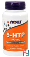 5-HTP, Now Foods, 100 mg, 60 Vcaps