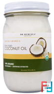 Organic Extra Virgin Coconut Oil, Dr. Mercola, 16 fl oz (480 ml)