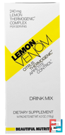 Lemon Venom, Citrus Thermogenic, Drink Mix, 14 Packets, Beautiful Nutrition, 4.2 oz (118 g)